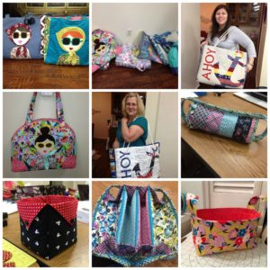 Laura Bag and fabric baskets were successful projects.