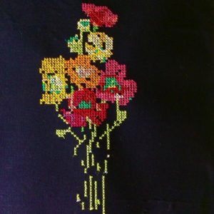 Cross stitch poppy