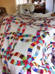 Epic Double Wedding Ring Quilt